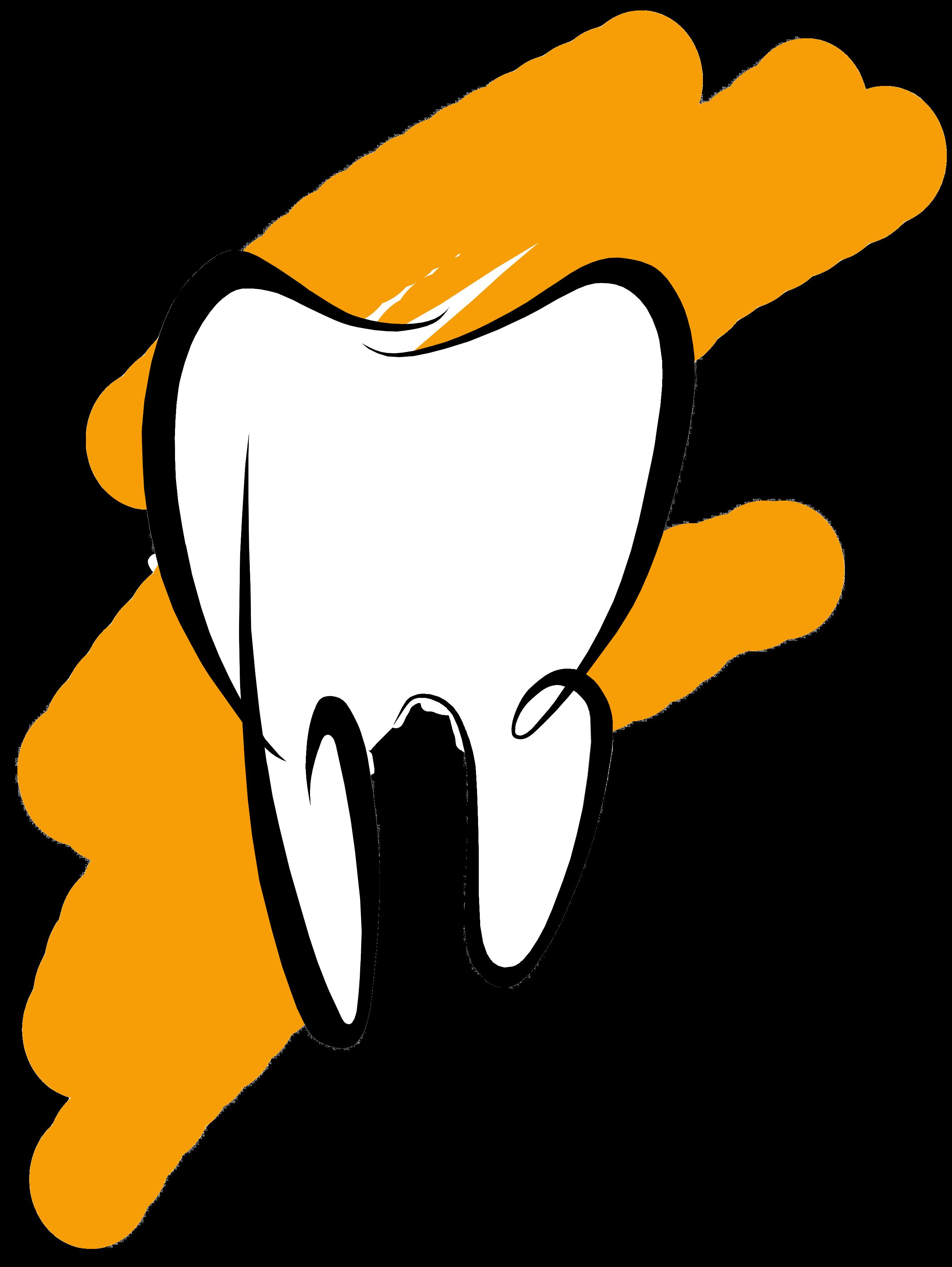 Белый зубик